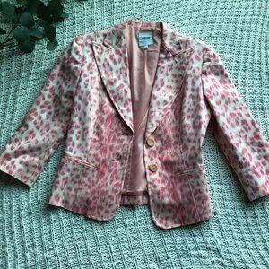 MOSCHINO jeans pink leopard blazer